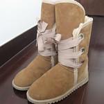 澳大利亚本土Shearer's UGG 栗色 皮毛一体roxy中款雪地靴 9成新 550包邮