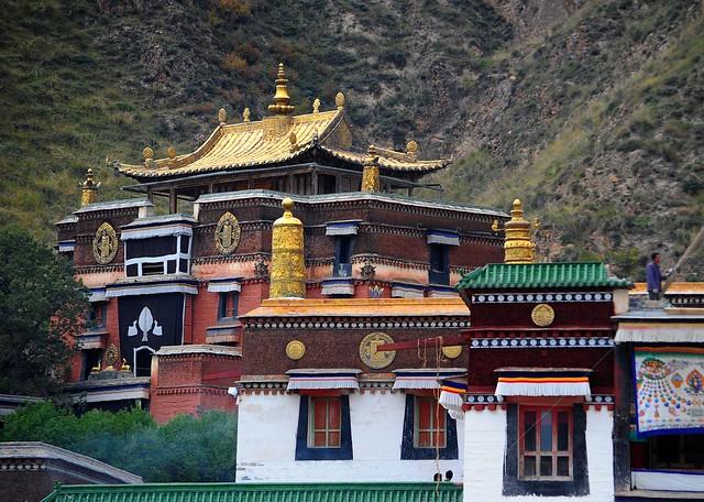 Zhabten Lhakhang monastery,Tibet, Labrang