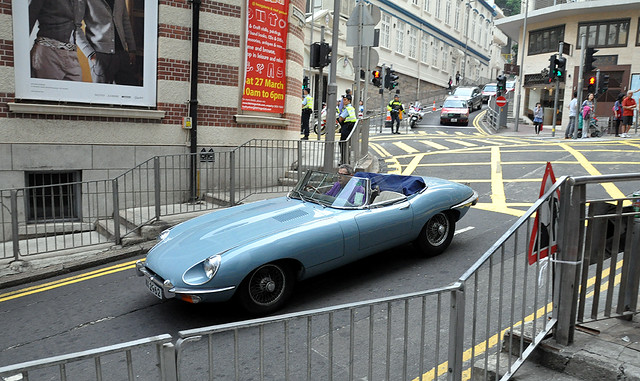 Jaguar | E-Type | Series 2 | WA 2962 | Lan Kwai Fong | Hong Kong | China