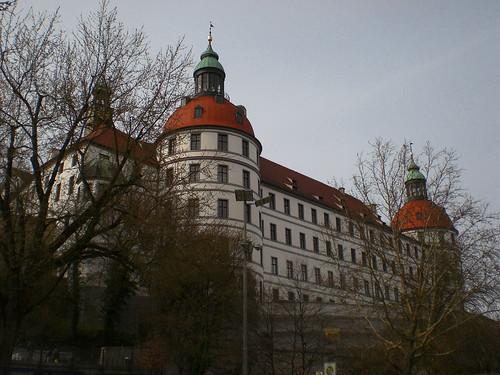 castle germany bayern deutschland bavaria europe view oberbayern upperbavaria eu aussicht residence baroque schloss renaissance barock ausblick residenz neuburg neuburganderdonau ottheinrich schlossneuburg