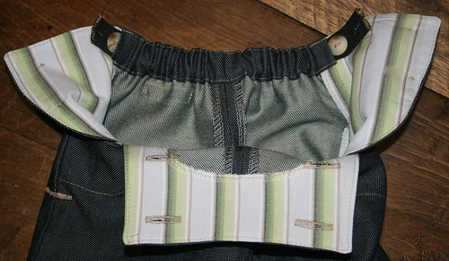 Elastic waistband detail