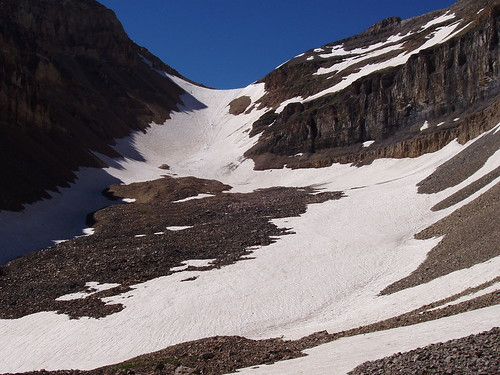 The Timpanogos snow field (a.k.a 'Timp Glacier') from Emerald Lake.