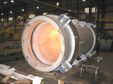 Refractory-lined Expansion Joint for an FFC Unit in India