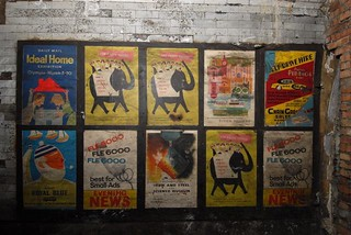 Old posters in disused passageway at Notting Hill Gate tube station, London, 2010 | by mikeyashworth