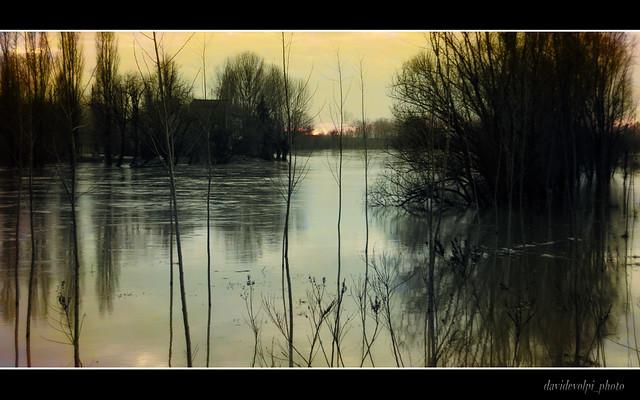 Il Po- la calma dopo l'alluvione