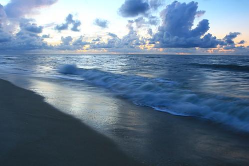 ocean morning water clouds sunrise dawn florida 2010 stgeorgeisland