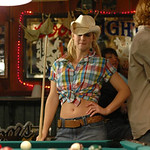 a.j cook tied shirt