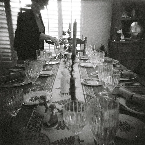 Holga 120 TLR - Christmas dinner at the Page Dooley's | by kevin dooley
