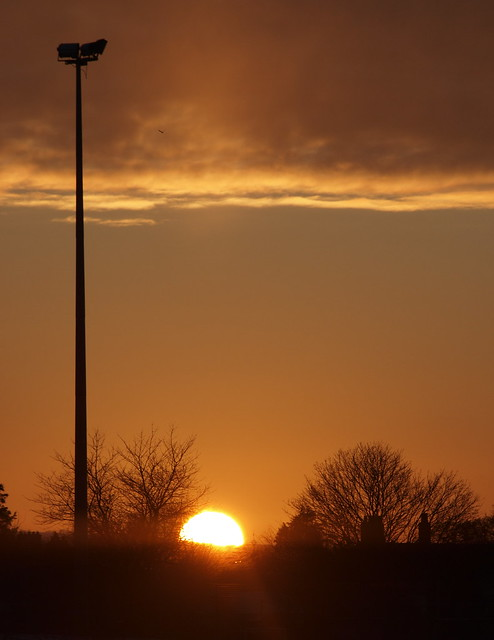 Sunset and Floodlight