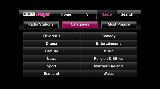 BBC iPlayer - Bigscreen __ Radio __ Categories