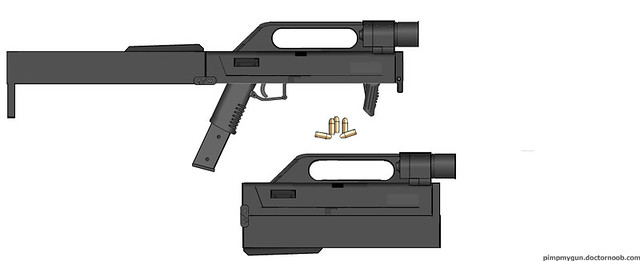 FMG-9 | A recreation of Magpul's folding sub machine gun. Th… | Flickr