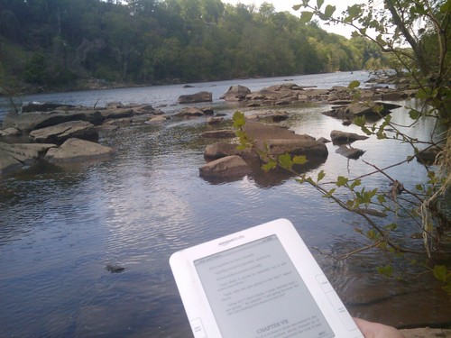 brunosan: Sometimes happiness is finding yourself reading a book  under the Sun by the riverbank. #kindle | by brunosan