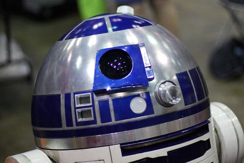 A close up of R2-D2 | by Sam Howzit