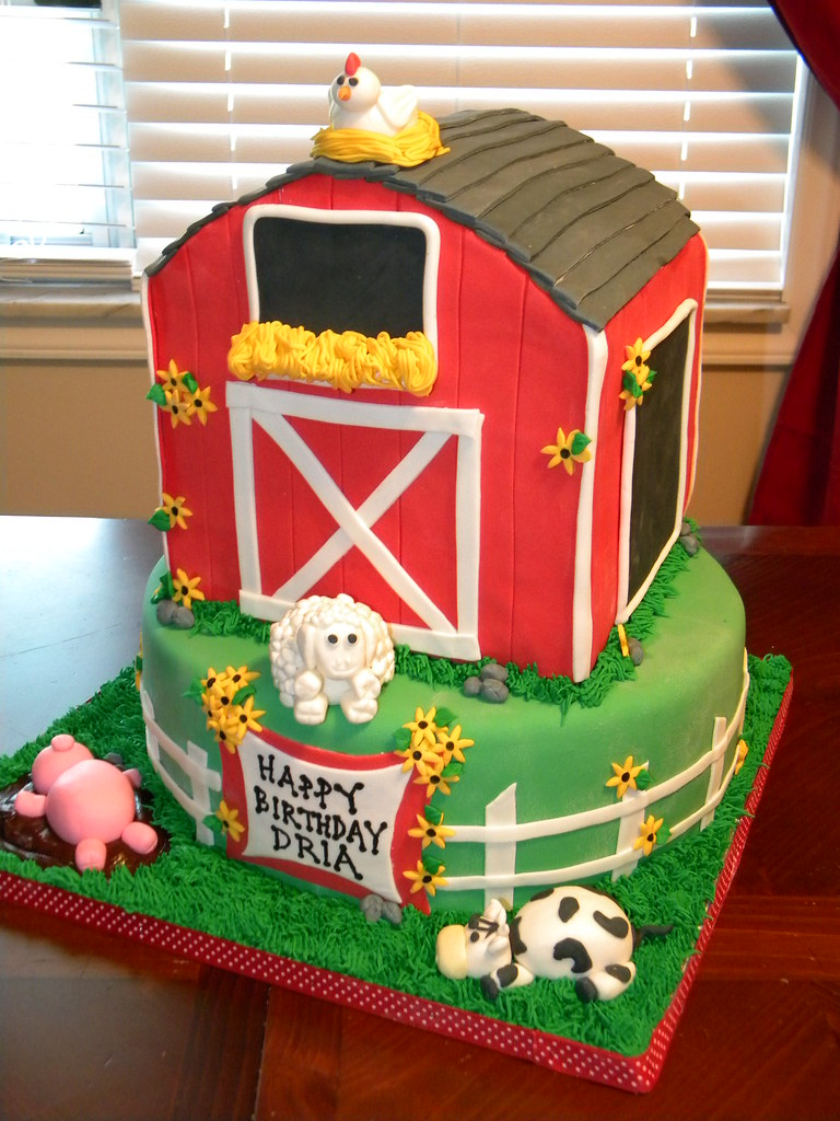 Super Barn Birthday Cake Jennifer Flickr Personalised Birthday Cards Veneteletsinfo