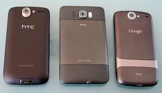 HTC Desire, HTC HD2, Google Nexus One | by vowe