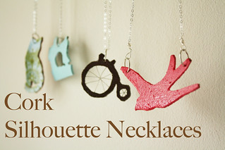 Cork Silhouette Necklaces | by ohsohappytogether