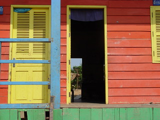 Thon Le Sap Lake School house door