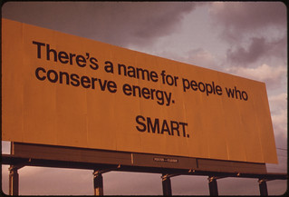 Billboard Advising Passing Motorists of the Seriousness of the Energy Shortage in Oregon During the Fall of 1973. Taken on Interstate #5 09/1973 | by The U.S. National Archives