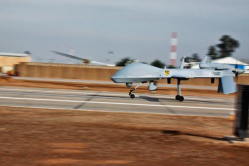 MQ-1C Sky Warrior aircraft landing | by The U.S. Army