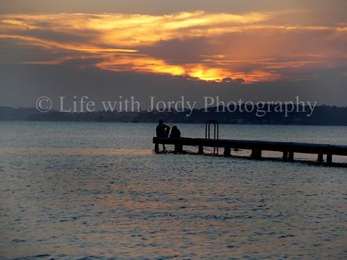 sunset cloud water pier fishing dusk belmont australia newsouthwales jordy lakemacquarie silouhette burntool panasonicdmcfz30 petejordan lifewithjordy