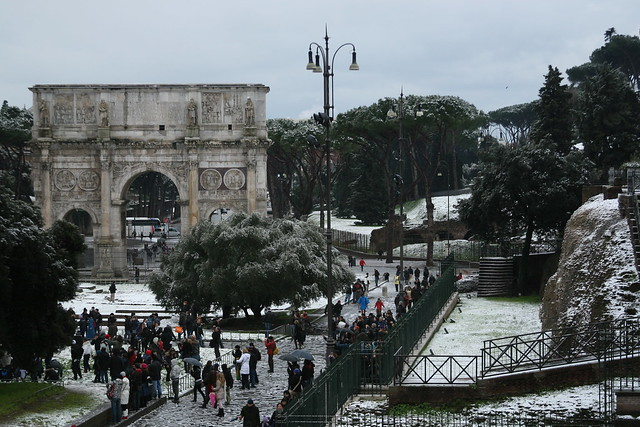 The Arch of Constantine and Colosseum Valley