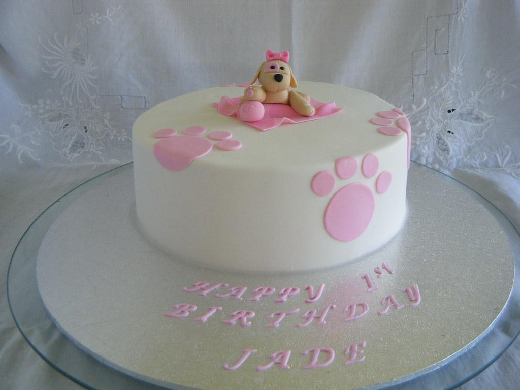 Astonishing Puppy Themed 1St Birthday Cake Puppy Themed 1St Birthday C Flickr Funny Birthday Cards Online Drosicarndamsfinfo
