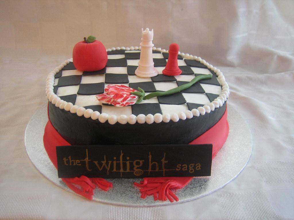 Phenomenal Twilight Saga Birthday Cake Twilight Saga Birthday Cake Flickr Funny Birthday Cards Online Overcheapnameinfo