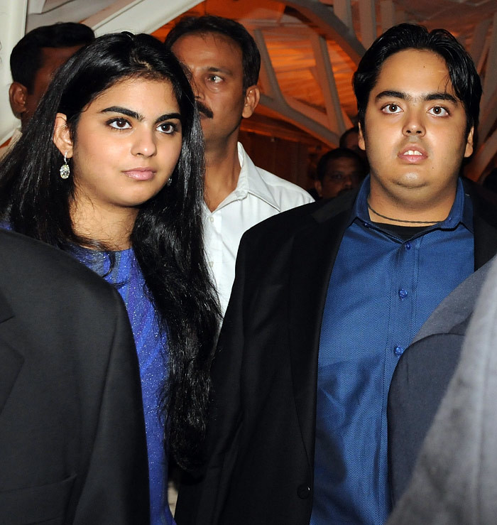 Daughter & Son of Mukesh Ambani
