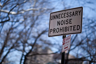 Unncessary Noise Prohibited | by pamhule