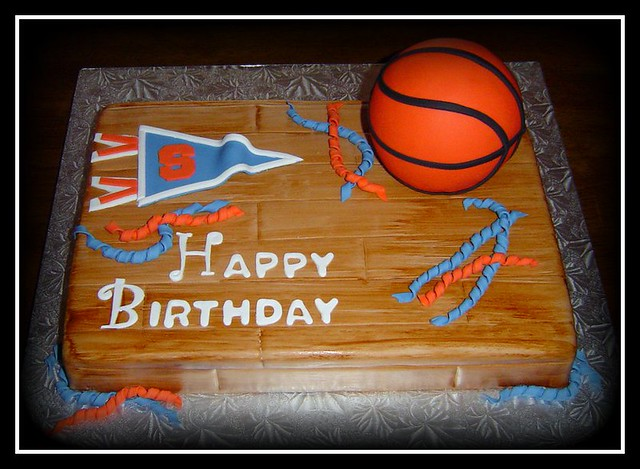 Cool Su Basketball Birthday Cake Surprise Birthday Cake For A F Flickr Funny Birthday Cards Online Alyptdamsfinfo