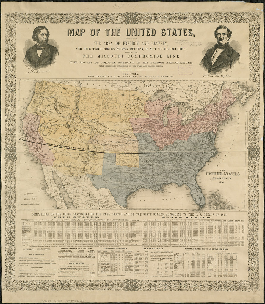 Map of the United States, showing by colors the area of fr ...