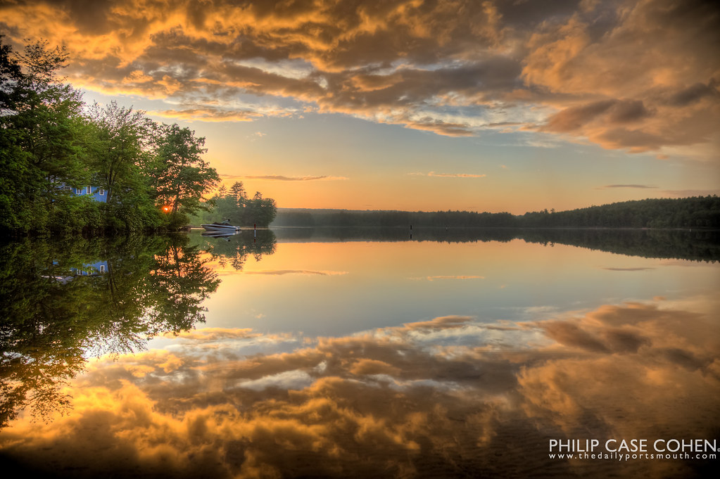 Sunset on the Lake by Philip Case Cohen