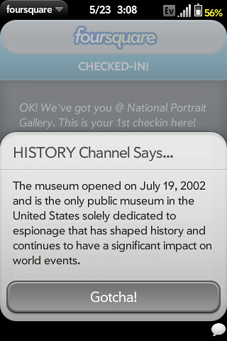 History Channel factoid about the International Spy Museum | by The Shifted Librarian