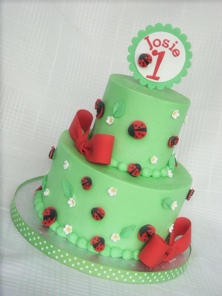 Astonishing Ladybug Birthday Cake A Variation Of The Same Design I Did Flickr Funny Birthday Cards Online Aeocydamsfinfo