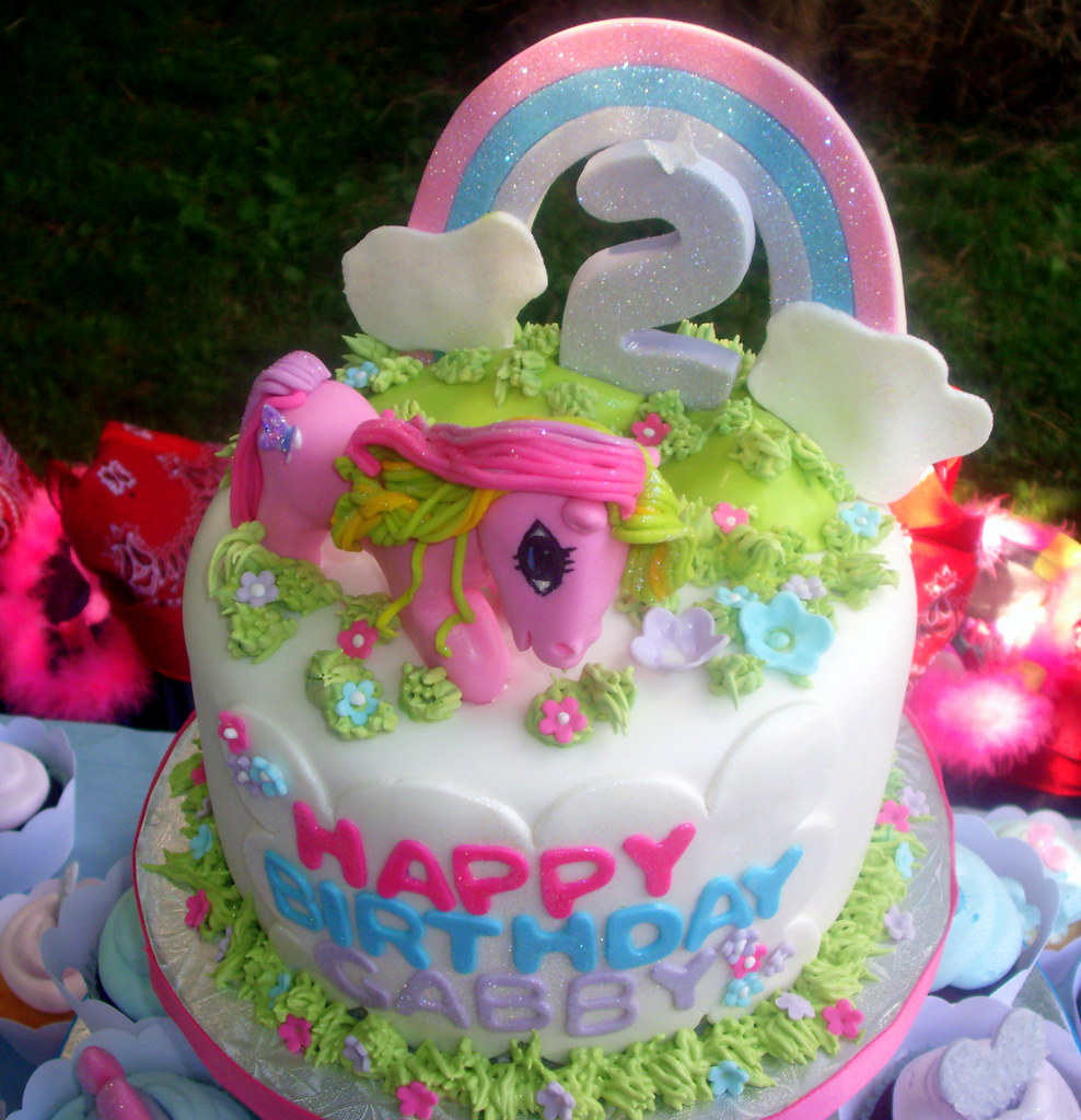 Fantastic My Little Pony 2Nd Birthday Cake Pastryqueen62 Flickr Funny Birthday Cards Online Overcheapnameinfo