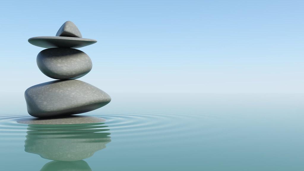 Zen Stones Wallpaper Designed In 3d Studio Max Photoshop