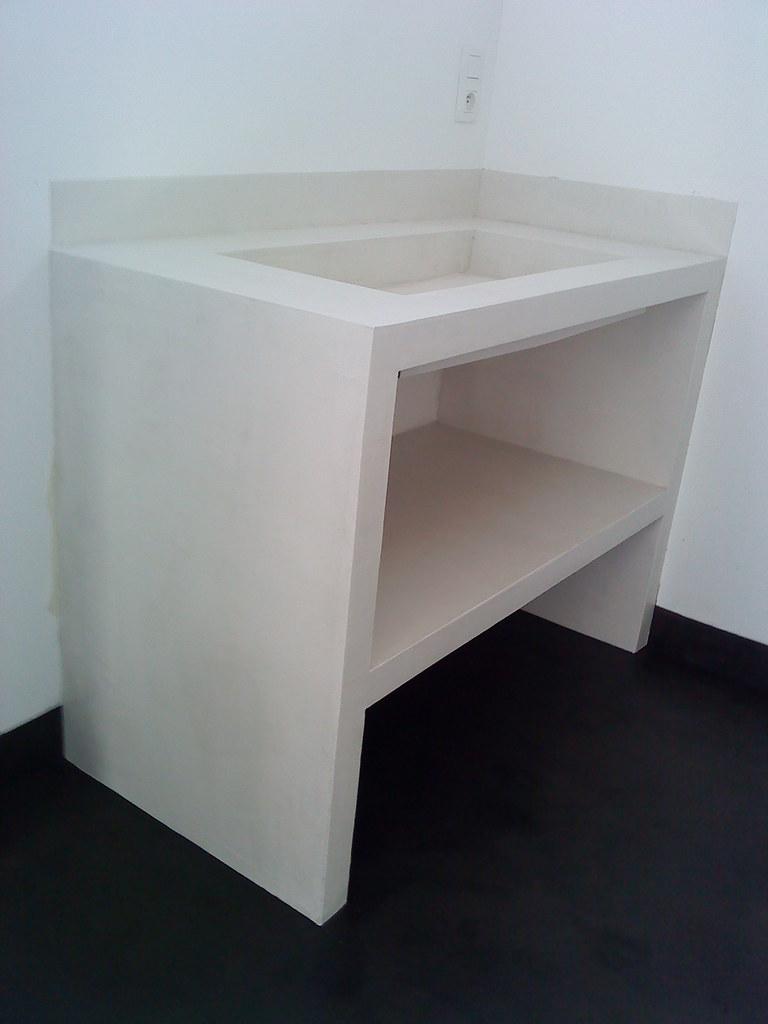 Meuble En Béton Ciré meuble lavabo béton ciré écru | batife beton | flickr