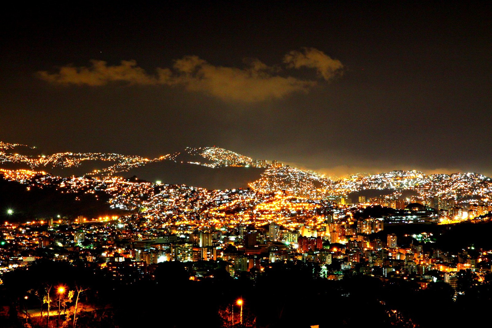Caracas by night....from home