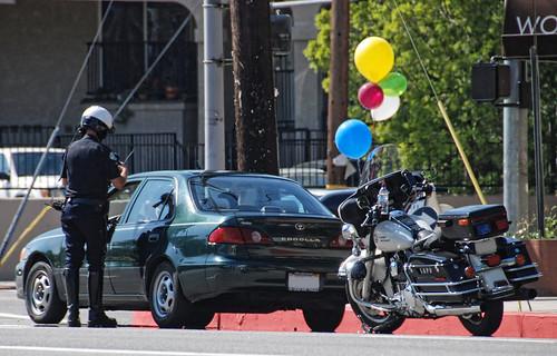 LAPD Traffic Stop Woodman Ave. Arleta CA   by Chris Yarzab
