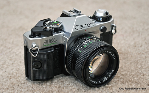 Canon AE-1 Program & New FD 50mm f/1.4 lens | by Rafakoy