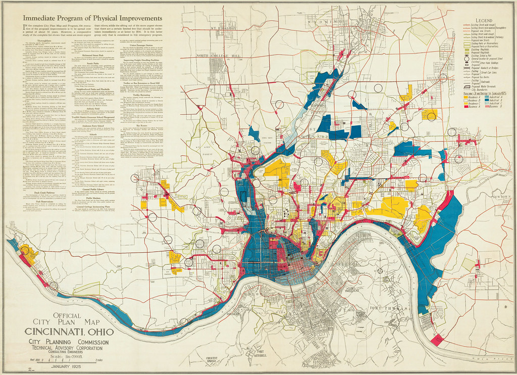 Official City Plan Map - Cincinnati 1925 | This is the Offic… | Flickr
