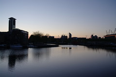 Den Haag skyline over water