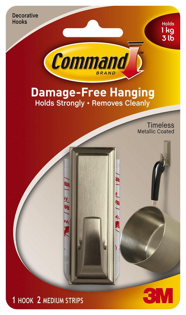 Command Timeless Metallic Coated Hook