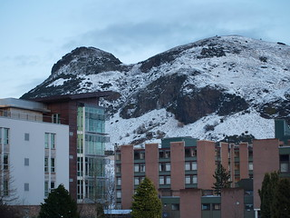 Arthur's Seat and Pollock Halls in Winter | by marsupium photography