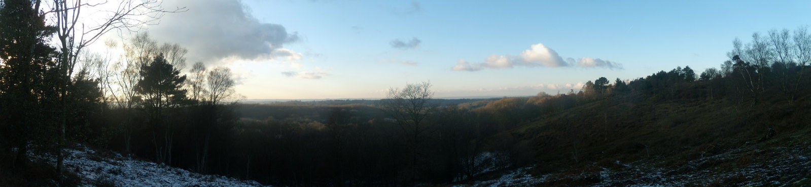 View from Black Down - Panorama 2 Haslemere Round Walk