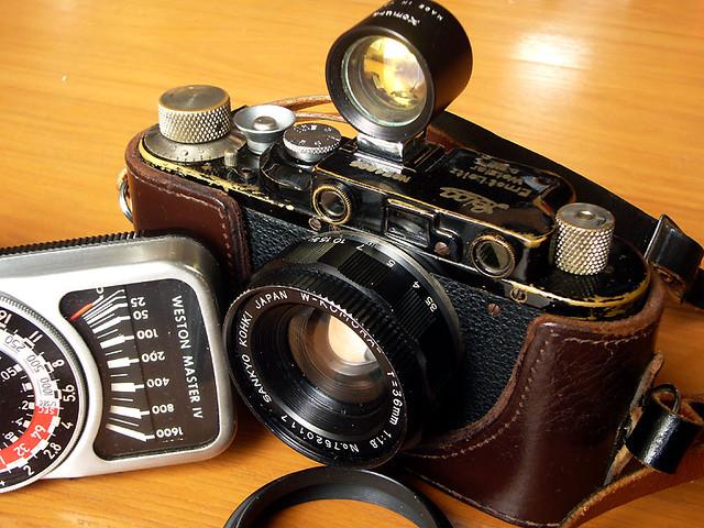 Leica II, ca. 1932 + Komura 36/1.8 WA lens