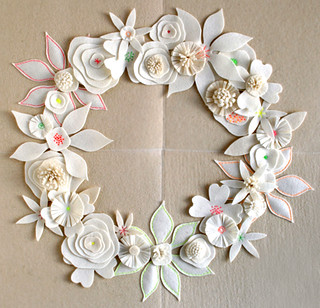 Page's Felt Flower Winter Wreath | by the purl bee