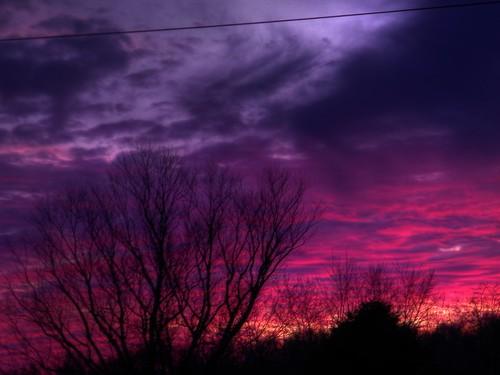 sunset ohio february hdr bergholz