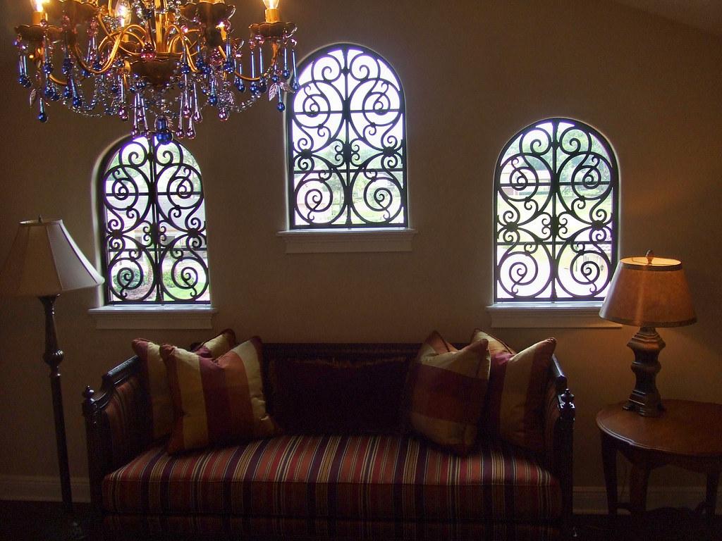 Faux Wrought Iron Decorative Window Treatment The Window