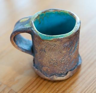 Handmade set of 4 espresso cups